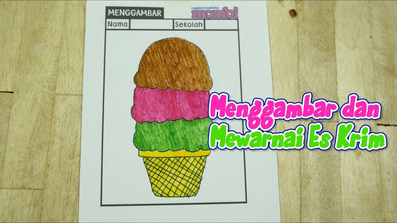 Yuk Ajari Si Kecil Menggambar Dan Mewarnai Es Krim Di Rumah