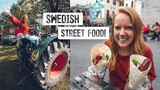 Trying Swedish STREET FOOD in Gothenburg! + Local Farmer Festival (Sweden)