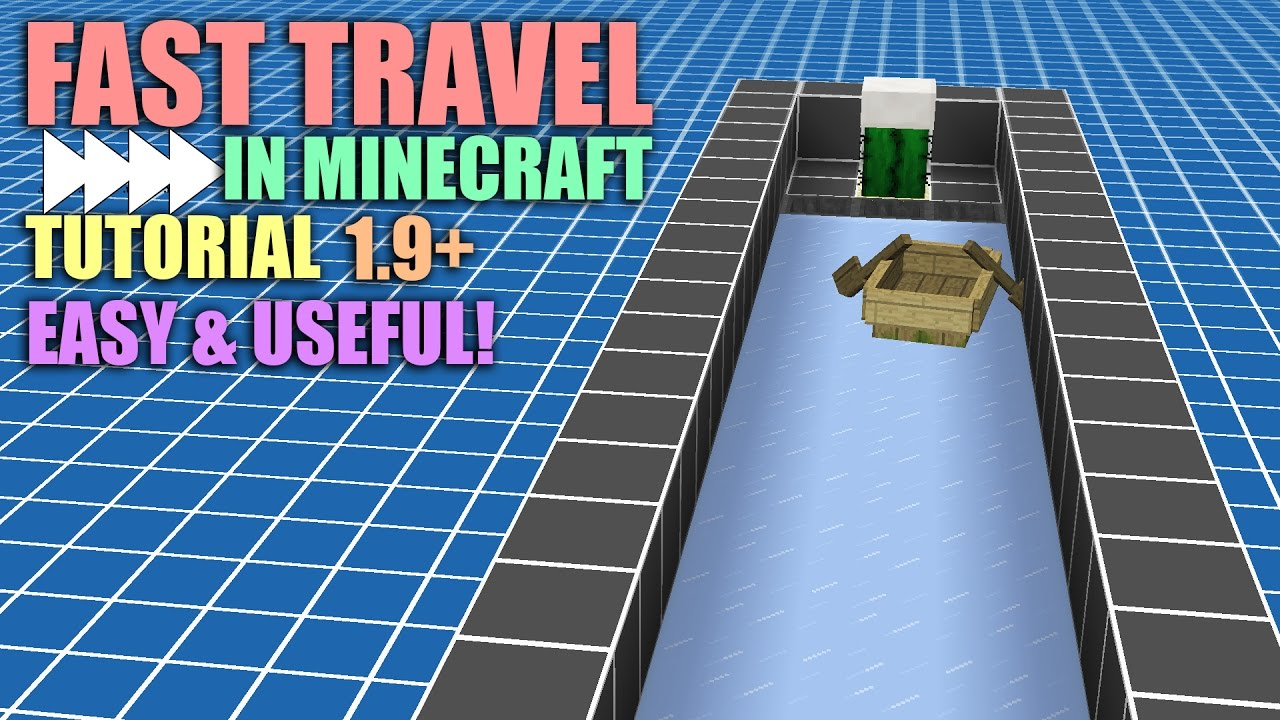 Fast Travel In Minecraft Tutorial 1 9 Packed Ice And Boat System Automatic Boat Loader Youtube But for some reason, mobs are unaffected when they travel on these surfaces. fast travel in minecraft tutorial 1 9 packed ice and boat system automatic boat loader