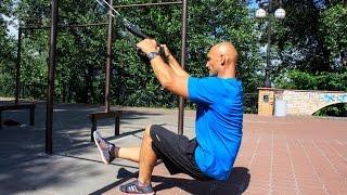 Тренировка ног и спины на TRX. Петли с подвижным блоком. [Stas Solomka]