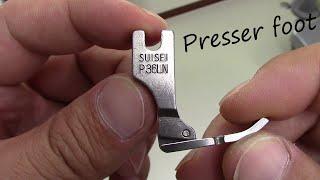 縫製工場が使う ミシン押さえ ご紹介!! Presser foot used by the Japanese sewing factory!!
