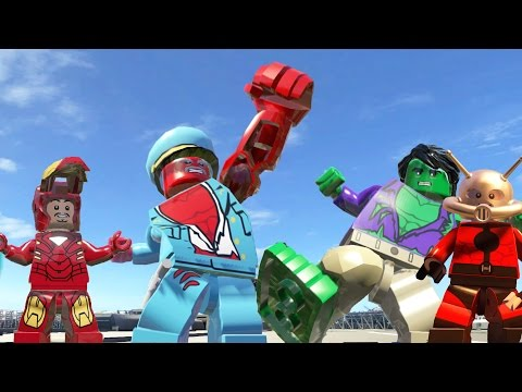 Iron Man Vs Ant-Man Vs Red Hulk(Transformation) Vs Hulk(Transformation) - LEGO