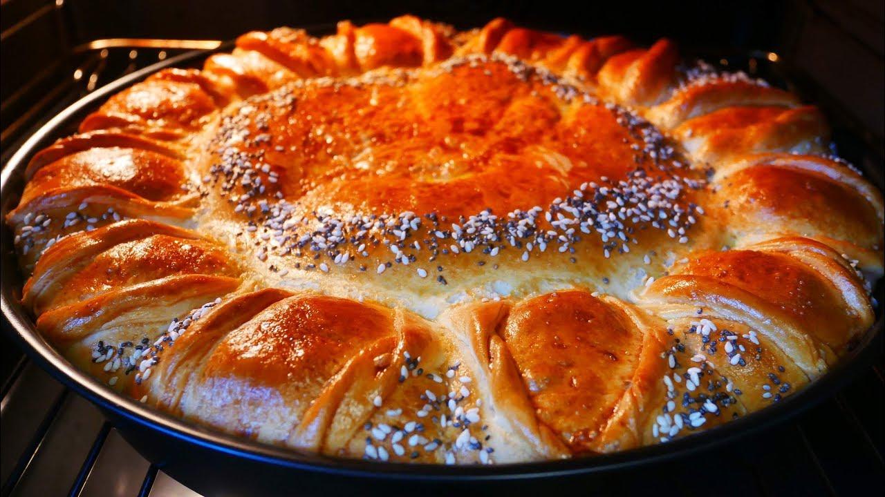 ГОСТИ В ВОСТОРГЕ !!! Мясной Пирог с Капустой . Красивый , праздничный пирог ЦВЕТОЧЕК
