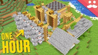 1 Hour Minecraft Base In ONE TAKE