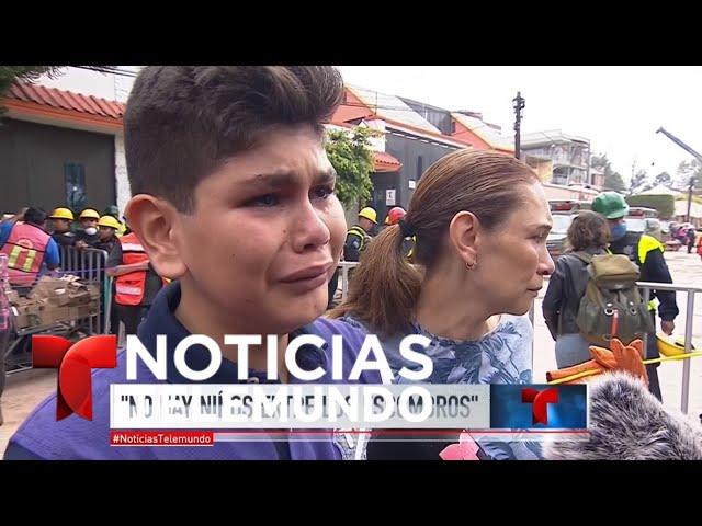 Terremoto en México: ya no quedan niños bajo los escombros de la escuela | Noticiero | Telemundo