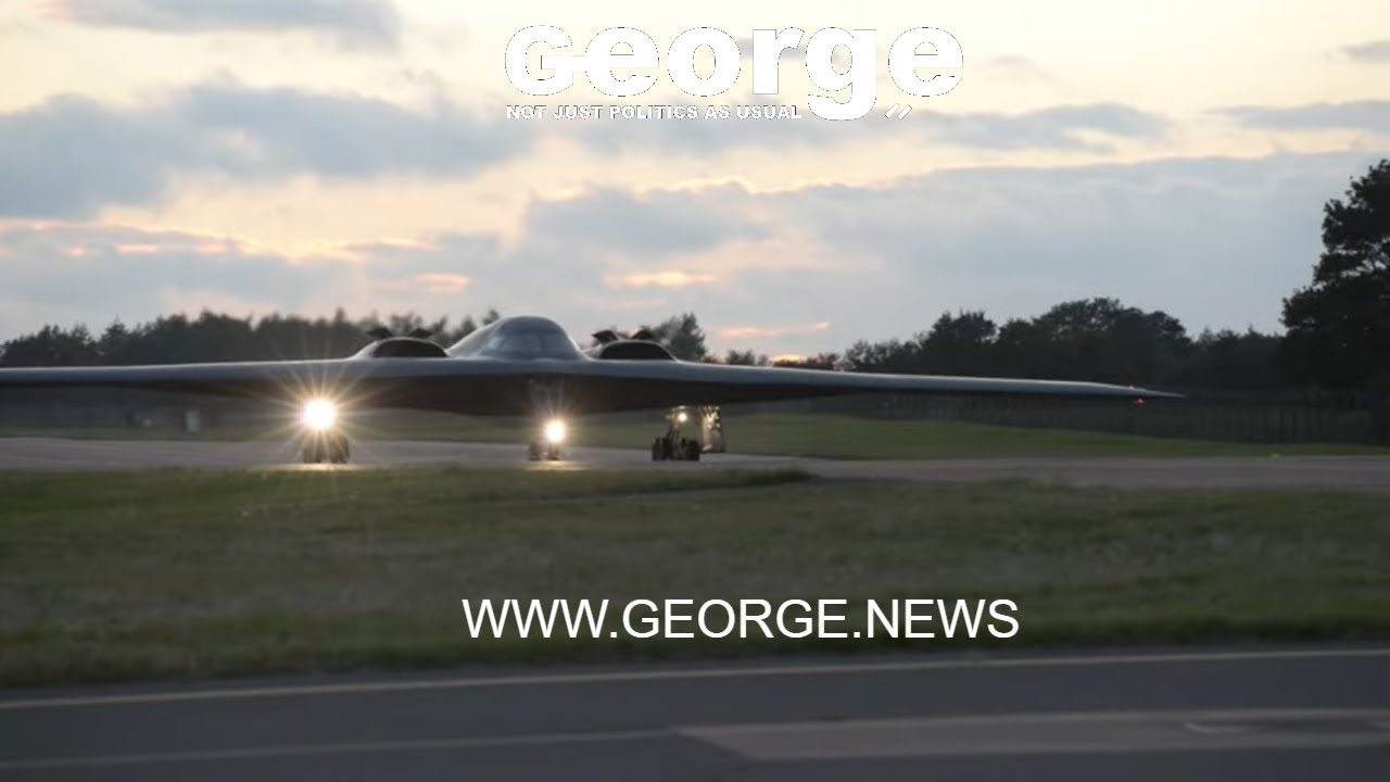 B-2 Spirits landing and taxi during Bomber Task Force Europe