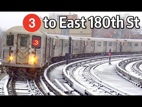 ⁴ᴷ 3 Trains Rerouted via the Lexington Avenue Line to East 180th Street