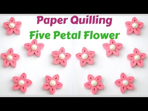 Easy Paper Quilling flower | Quilled Flower |  How to make flowers in quilling