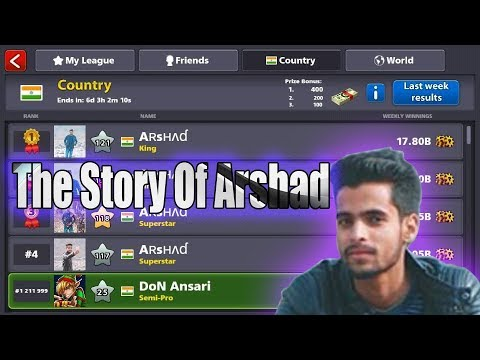 The Story Of 8 ball pool legendary player arshad!