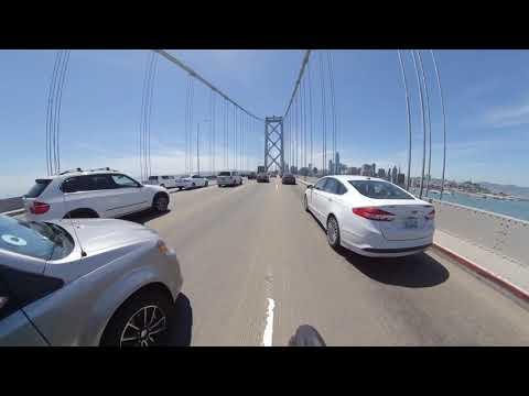 #motovlog #motorcycletravel Ducati Scrambler 360 Video riding over San Francisco Bay Bridge