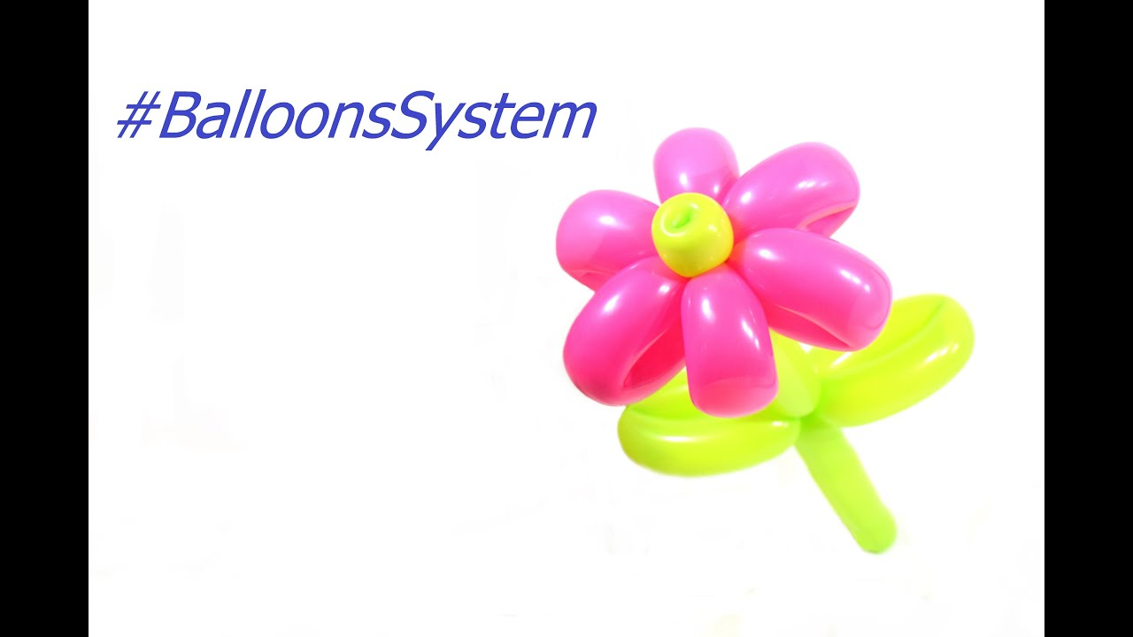Как сделать цветок из длинных шариков фото 113