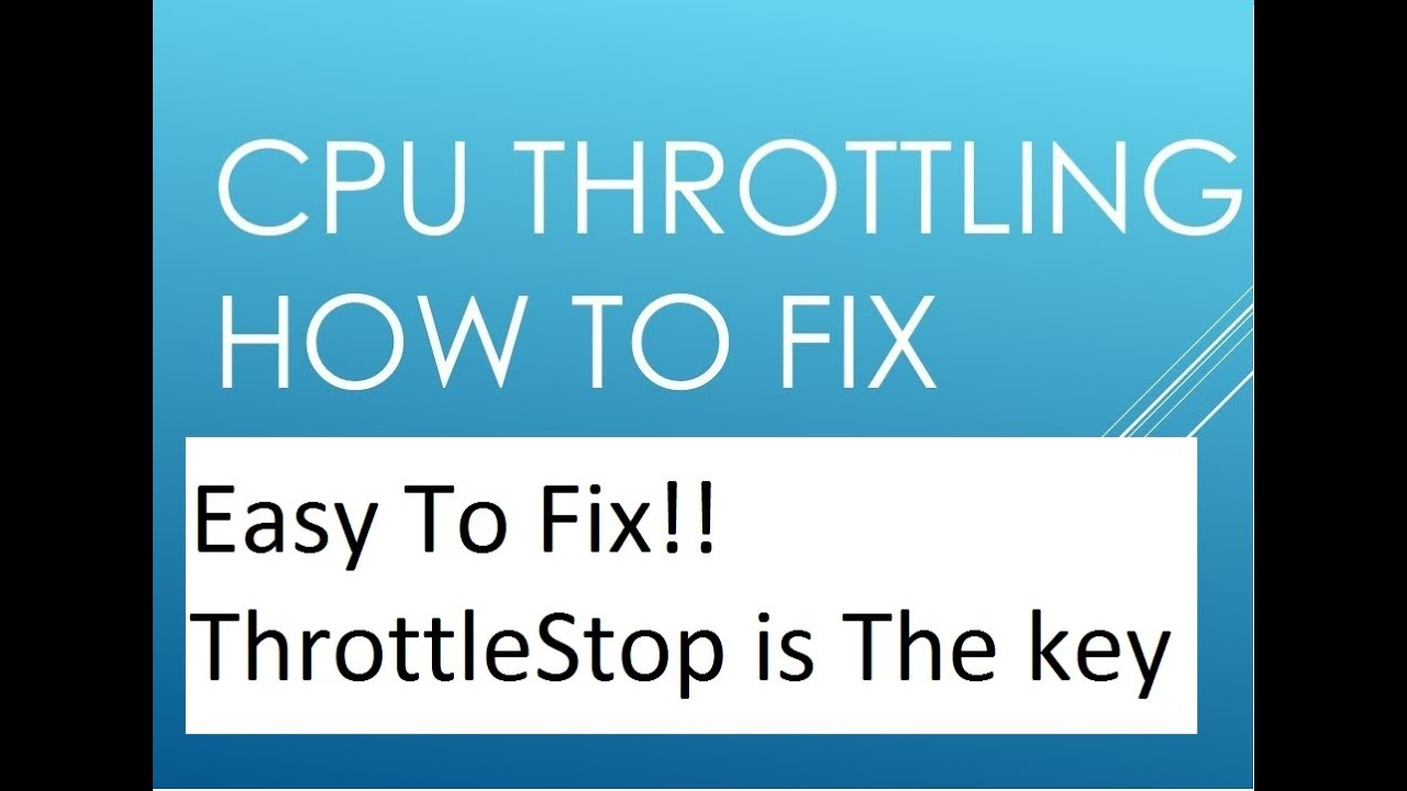 CPU Throttling?? Here's The Fix !!