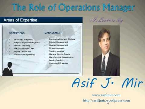 The Role of Operations manager