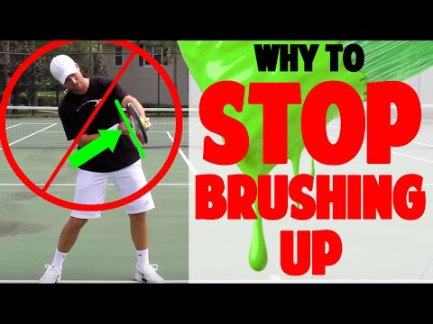 """Brush Up"" Myth Busted - Tennis Topspin Lesson - How to Hit Topspin on Forehand & Backhand"
