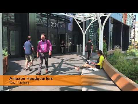 Trip to Amazon Headquarters, Day 1 Building, Lake Union, Seattle, Washington