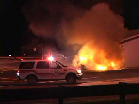 Montvale,nj Fire Department *Fully Involved Car Fire*