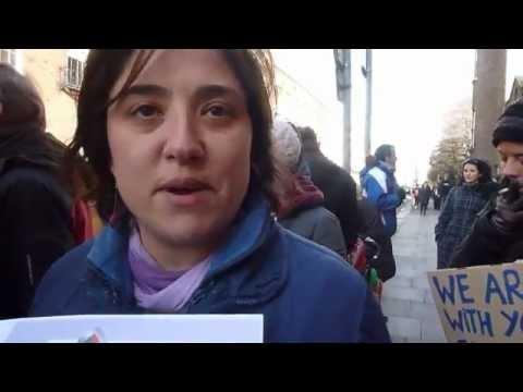 Greek Embassy Dublin Ireland, Solidarity Demo