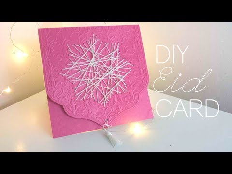 Diy How To Make Eid Cards Tutorial Youtube