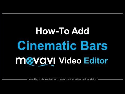 How to Add Cinematic Bars in Movavi Video Editor   AJ's Tech