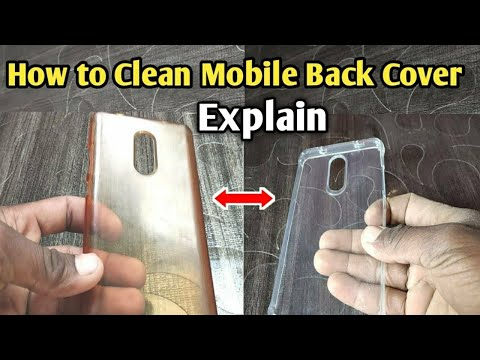 how to clean mobile back cover || How to wash transparent mobile cover || Rscmobile