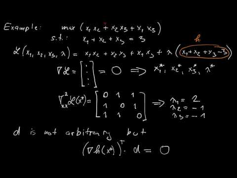 L1.5 - Equality-constrained optimization - second-order sufficient conditions (projected Hessians)