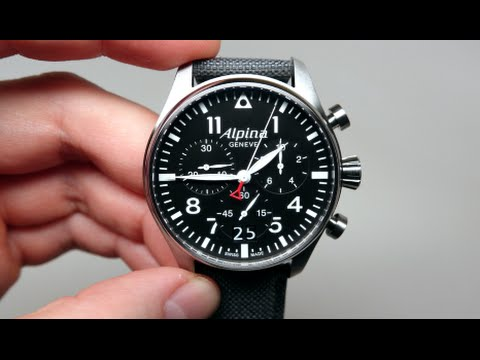 alpina startimer pilot men 39 s watch review model al 372b4s6 youtube. Black Bedroom Furniture Sets. Home Design Ideas