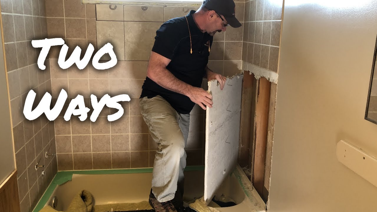 How To Remove Bathtub Shower Wall Tiles Youtube