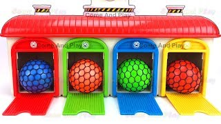 Learn Colors Tayo the Little Bus Slime Balls Garage Playset Surprise Toys Disney TMNT