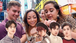 Asking NYC Strangers to Pick the Most Handsome EXO Member?!