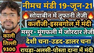 नीमच मंडी का भाव 19-06-21 , Mandi Rate, Nimach mandi bhav, nimach mandi ka bhav in hindi