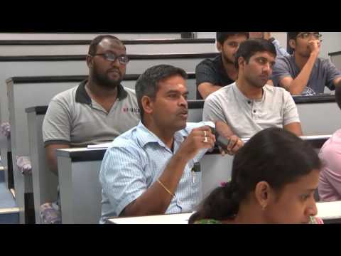 NPTEL Faculty Workshop - IIT Madras - 21 Dec, 2016