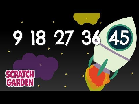 The Counting By Nines Song | Counting Songs | Scratch Garden