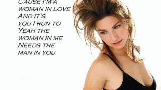 Shania Twain Woman In Me music video w/ lyrics on screen