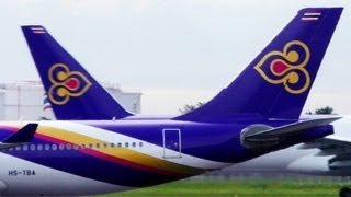 Thai Airways International with great pictures and boarding music theme song การบินไทย