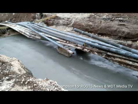 WDT Media TV Hagley Park Road Improvement Project... Work began on cables at Spanish Town Road Ramp