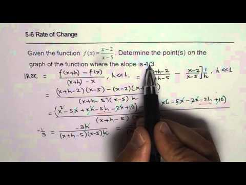 General Expression for Rate of Change for Rational Function Q11 Nelson p 305