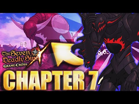 A CHALLENGE?! NEW GALLAND BOSS FIGHT CHAPTER 7 ALL FIGHTS! | Seven Deadly Sins: Grand Cross