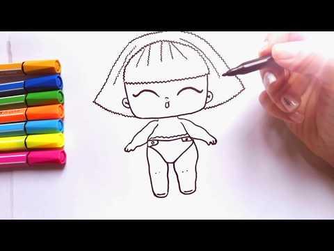 Как нарисовать куклу лол видео