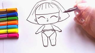 How to Draw #LOL DOLL last series | Lol Surprise Doll drawing | Куклы Лол Последняя Серия