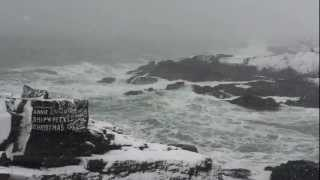 Portland Headlight - Storm at the Annie C Maguire shipwreck site