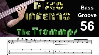 DISCO INFERNO (The Trammps) How to Play Bass Groove Cover with Score & Tab Lesson