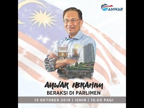 DS Anwar Ibrahim Beraksi di Parlimen
