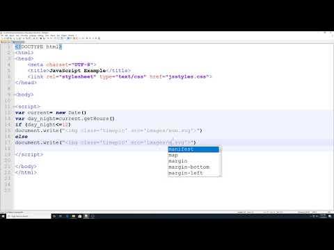 Html & Css Basics: JavaScript Time Graphic Widget