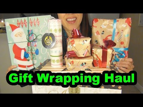 ASMR: Gift Wrapping Haul | Show and Tell | Christmas Gifts