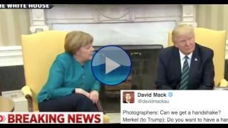 Trump Just REFUSED To Shake Hands With Germany's Angela Merkel