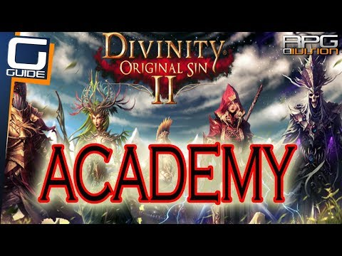 DIVINITY ORIGINAL SIN 2 - Academy Walkthrough (Library, Hidden Arena, Barrier Puzzle)