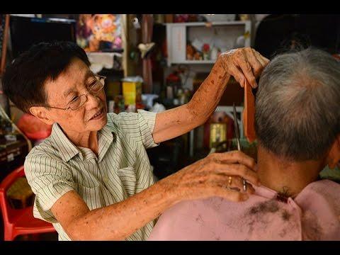The Lady Barber at Melaka Jonker Street