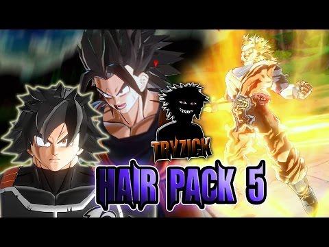 Dragonball Xenoverse 2 Hair Pack 5 Mod Tryzick Youtube