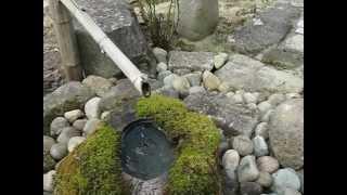 南会津町福米沢常楽寺の水琴窟(すいきんくつ)です。とても澄み切った...