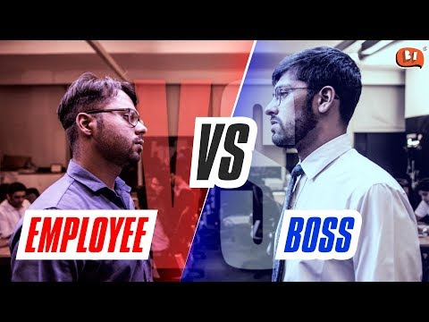 Employee vs Boss - Rapbaazi | Being Indian